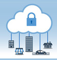big data cloud computing security concept vector image