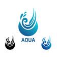 design modern aqua logo vector image