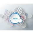 Abstract background with circles and place for vector image