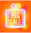 big sale words in box of big vector image