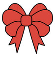 bown christmas decorative icon vector image