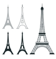 Different eiffel tower landmark set vector image