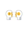 Emotional intelligence concept psychology vector image