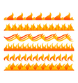 Fire design elements set vector image