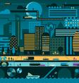 Future city night vector image