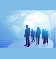 group of business people silhouette walking over vector image