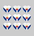 heart with the flag of sint maarten vector image