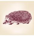 hedgehog hand drawn llustration realistic sketch vector image
