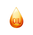 Oil drop isolated oil droplet on white Liquid vector image