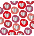 paper heart seamless pattern graphic vector image