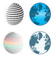 Abstract globe icons and symbols vector image