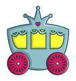 princess carriage icon cartoon style vector image
