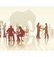 Elephant in the office vector image vector image