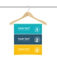 Coat hanger wood like text headers vector image
