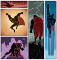 Superhero Banners 3 vector image vector image
