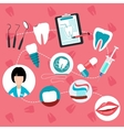 Dental treatment and teeth helth infographic vector image