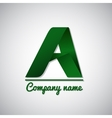 Icon of paper business logo letter a vector image