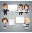 Peoples Gives a Presentation or Seminar vector image