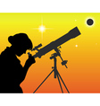 astronomer vector image vector image