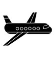 airplane - plane icon black vector image