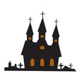castle building icon flat style isolated on white vector image