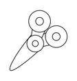 cute scissor cartoon vector image