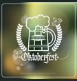 oktoberfest beer festival logo holiday decoration vector image