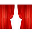 open red curtains with ropes vector image