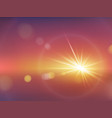 realistic sunlight effect with blurry bokeh vector image