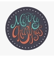 Retro calligraphic inscription Merry Christmas vector image