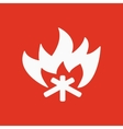 The fire icon Bonfire symbol Flat vector image