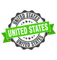 united states round ribbon seal vector image