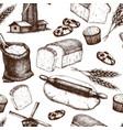 vintage bakery background vector image