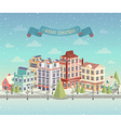 christmas day city vector image vector image