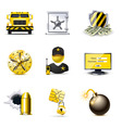 bank security icons | bella vector image