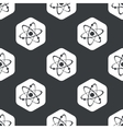 Black hexagon atom pattern vector image