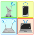 connectivity icon set vector image