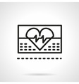 Cardiology icon black line icon vector image