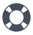 Black Lifebuoy Icon vector image