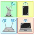 connectivity icon set vector image