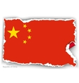 design flag republic of china from torn papers vector image