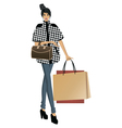 Fashion lady with bags vector image