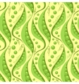 Green peas seamless pattern background vector image