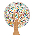 Isolated Diversity Tree hands vector image