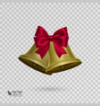jingle bells with red bow on transparent vector image