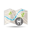 location on map design vector image