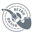 retro brand logo simple style vector image