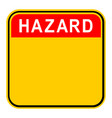 sticker hazard safety sign vector image