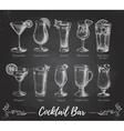 Vintage cocktail bar menu vector image