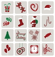 Set of icons for New Year and Christmas vector image